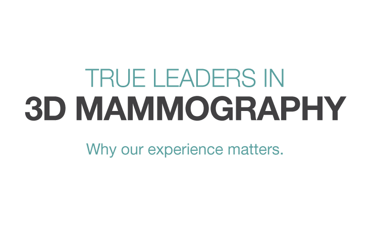 Leaders in 3D Mammography